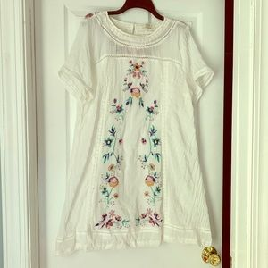 Umgee Boho Cotton Dress, XL